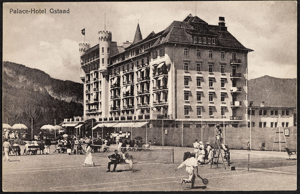 Palace Gstaad in the past